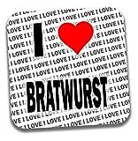 I Love Bratwurst bevande sottobicchiere-regalo-Compleanno-Natale-calza della Befana