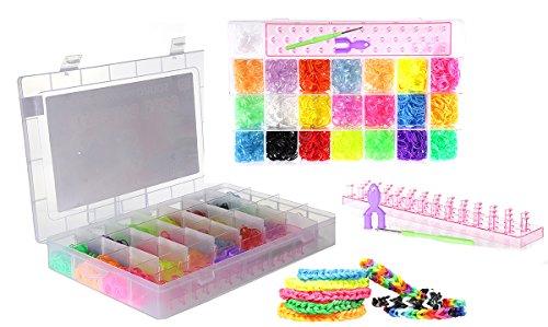 3060-teiliges Loombänder Starter-Set im Koffer Gummibänder Band Box Loom Webrahmen