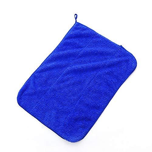 2 Lumpen Mikrofaser Reinigungstuch Küchengeschirrtuch Saugfähiges Lappen Reinigungstuch Staubtuch Shop Lappen Baumwolle Geeignet für Garage Auto Körper und Bar,Blue