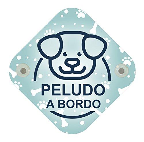 Cartel madera Peludo a bordo. Cartel bebé a bordo mascota perro.