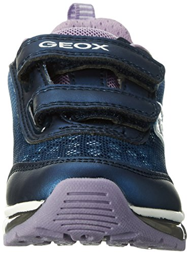Geox  J ANDROID GIRL B, Sneakers Basses fille Bleu (Navy/lilacc4215)