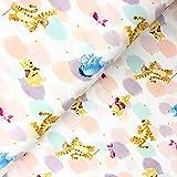 Hemmers Disney Jersey Winnie Pooh Tupfen - Stoff -