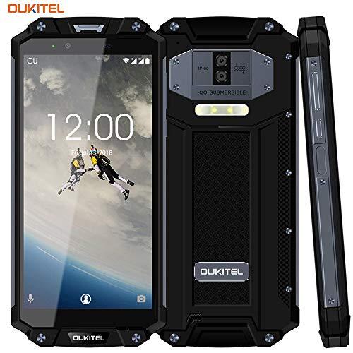 10000 mAh Outdoor Handy-OUKITEL WP2 4G LTE Rugged Smartphone Ohne Vertrag,6 Zoll 18:9 FHD+,4GB RAM+64GB ROM,Android 8.0 Dual-SIM(IP68 Wasserdicht, Staubdicht, Stoßfest),16MP+2MP+8MP Kameras(Schwarz)