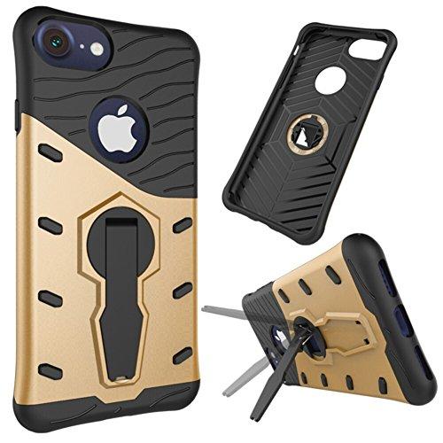 Pour Apple IPhone 7 Shell Case 2 En 1Tough Hybrid Heavy Duty Shock Proof Defender Cover Combinaison à double couche avec couverture pivotante 360 