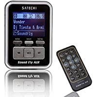 Satechi Soundfly AUX Lettore MP3 Trasmettitore FM per Auto per schede SD, chiavette USB, lettori MP3 (iPod, Zune, Sansa) con Telecomando