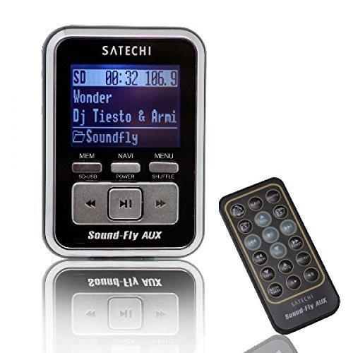 Soundfly AUX OUT MP3 Player Car Fm Transmitter for SD Card, USB Stick, Mp3 Players (iPod, Zune)