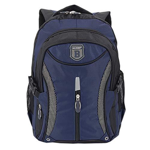 Ergonomisches Daypack City Damen Herren Rucksack Schulrucksack Backpack Tasche für Reise Sport Freizeit (Blau-Schwarz)