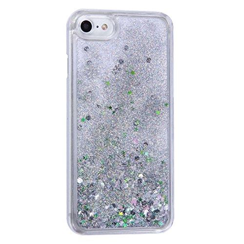 Custodia-iPhone-7-iPhone-7-Cover-iPhone-7-Custodia-Trasparente-JAWSEU-Lusso-Scintillio-Bling-Dura-di-Plastica-Hard-Cover-Custodia-per-iPhone-7-Coperture-Protectiva-Bumper-Liquido-di-Flusso-Lucido-Scin