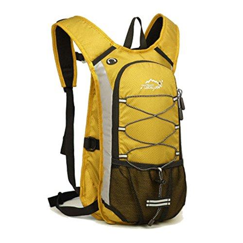 Cuckoo Im Freien Wandern Klettern Rucksack Freizeit Ultraleichte Wasserdichte Outdoor Wanderrucksäcke Radfahren Reiten Reisetaschen, 45 x 25 x 15 cm, 15 Liter Gelb