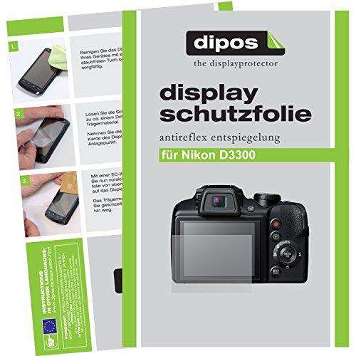 dipos I 6X Schutzfolie matt passend für Nikon D3300 Folie Displayschutzfolie