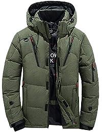Blouson à Capuche Hommes épais Hiver Randonnée Ski Veste Homme Garçons  Doudoune en Coton Manteau Chaud 978b771822b0