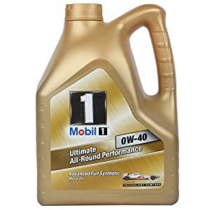 Mobil 1 0W-40 Fully Synthetic Oil for Cars (4 L)