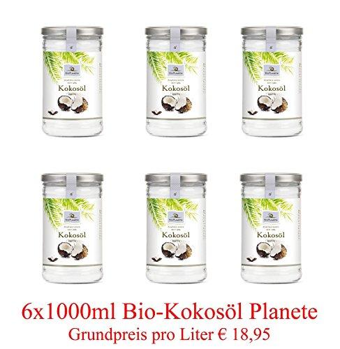 PLANETE Kokosöl nativ, bio 1000ml NEU 6x1000ml Bio Kokosöl Planete