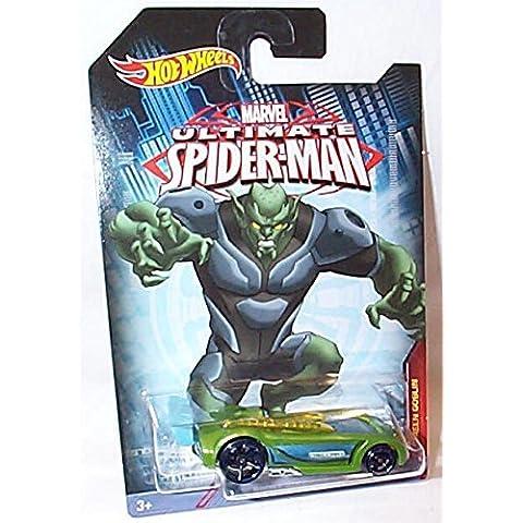 hotwheels marvel ultimate spiderman battaglia spec verde goblin auto 1.64 scala modello