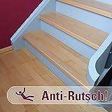 10 Anti-Rutsch Streifen für Treppen - transparent - 75x3cm – Stufe