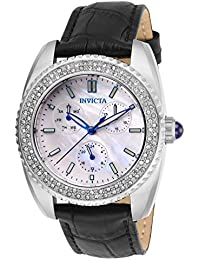 Invicta Women's Analog Japanese Quartz Watch with Leather Strap 28585