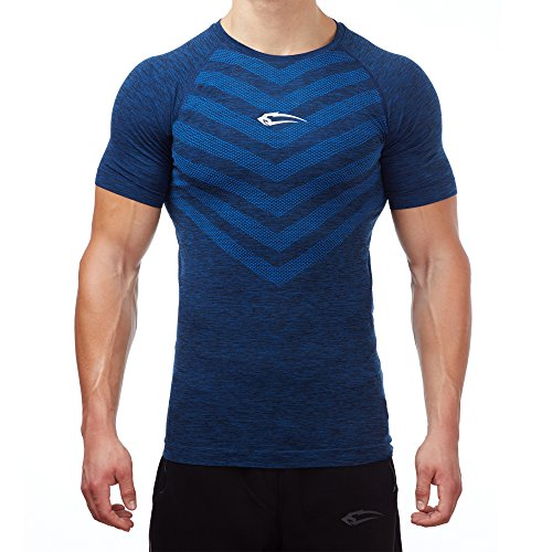 Smilodox Herren Seamless T-Shirt Passion Blau