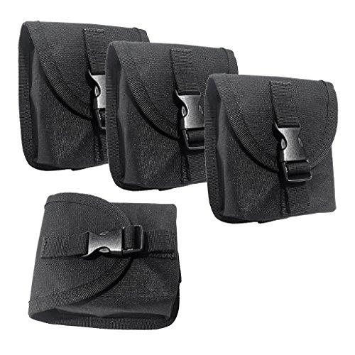 Sharplace Tauchen Gewichte Gürtel Tasche Bleigurt Taschen, (4 Stück Packung)