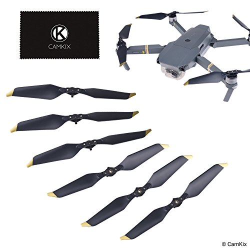 Camkix Propellers Compatible with dji Mavic Pro / Platinum - 6 Blades - Low Noise - Folding Wings Quick Release - Proven Flight Design - Essential Accessory for your dji Mavic Pro / Platinum