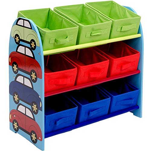 ge für Kinder Multi-Box-Organizer für Kinder Finishing Rack Sorting Rack Album Bücherregal (Farbe : Car, Größe : 65 * 60 * 30CM) ()
