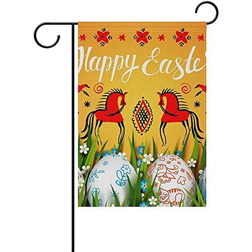 jiaxingdalin Polyester-Garten-Flagge, glückliche Ostern-Farbei-Feiertags-Flagge für Dekoration FLAG-147 des Partei-Ausgangsim Freien