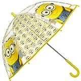Universal Ilumination Minions Kinderschirm/ Regenschirm / Stockschirm transparent für Kinder - robust, windfest , sicher tolles Geschenk