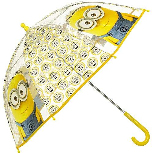 Universal Ilumination Minions Kinderschirm/ Regenschirm / Stockschirm transparent für Kinder – robust, windfest , sicher tolles Geschenk