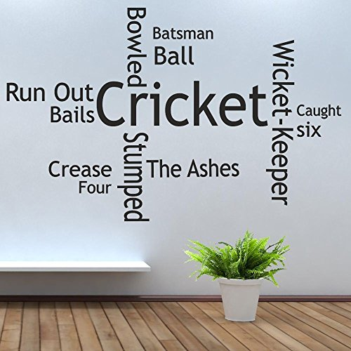 iClobber Cricket Collage parete cuscinetti per casco borsa Bat adesivo