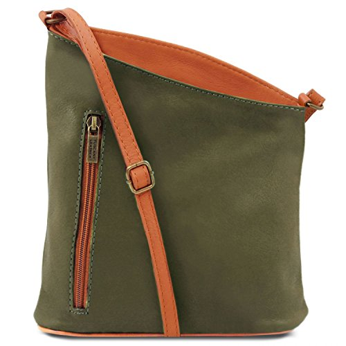 Tuscany Leather TL Bag Tracollina unisex in pelle Rosso Verde
