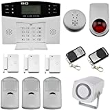Discoball Wireless LCD Security Alarm GSM Autodial Home House Office Burglar Intruder Fire Alarm Siren PIR Motion Detector and Door/Window Gap