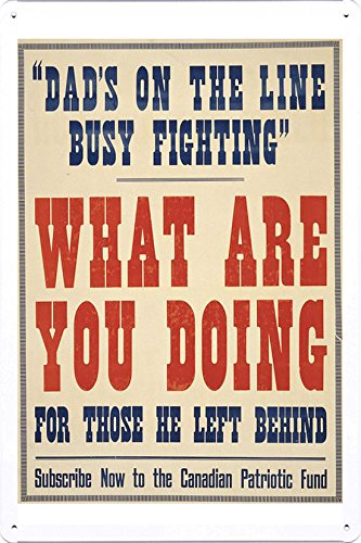 World War I One Tin Sign Metal Poster (reproduction) of
