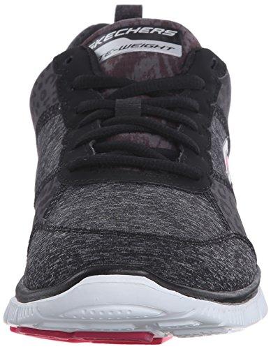Skechers - Flex Appeal - Tribeca, Baskets Femme Noir (bkw)