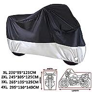 Materiale: tessuto 210D OXF con rivestimento in PU  Colore: Nero con argento  Dimensioni disponibili:  XL (230 * 95 * 125 CM)  2XL (245 * 105 * 125 CM)  3XL (265 * 105 * 125 CM)  4XL (295 * 110 * 140 CM)   La confezione include:  1X ANFTOP Copri moto...