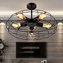 Deckenleuchten Vintage Retro Lampe Decke Ventilator Rund Eisen 5 FlammigDeckenleuchte WohnzimmerDeckenleuchte Schlafzimmer