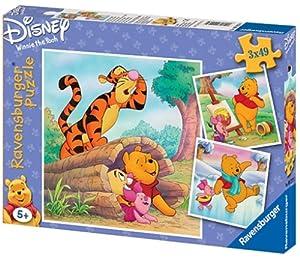 Ravensburger - Puzzle Infantil de Winnie The Pooh (3X49 Piezas)