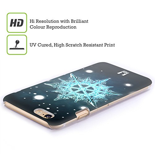 Head Case Designs Attrappe -Rêve Flocons De Neige Étui Coque D'Arrière Rigide Pour Apple iPhone 3G / 3GS Turquoise