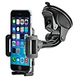 Universal 360° drehbar KFZ Auto Handy Smartphone Halterung Halter f. Apple iPhone 5 / 5S / SE / 6 / 6 Plus / 6S / 6S Plus / 7 / 7 Plus