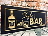 Norma Lily Bar Schilder Man Cave blacoden Schilder personalisiertem Namen Bedruckt Vorlagen Shot Glas Wein Scotch Whisky beervodka Double Old Fashion