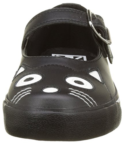 T.U.K. Vlk Mj Kitty Sneker Black, Baskets Basses Femme Noir (Black Pu)