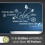 Pas les années dans notre vie... Sticker Mural Sticker mural Wall Stickers–6Tailles, 30_dunkelrot, 40 x 23 cm