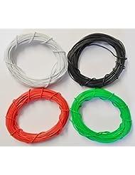Gaugemaster Alambre, Paquete de 4 colores Negro, Blanco, Verde y Rojo