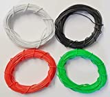 Gaugemaster Wire, Pack of 4 colours Black, White, Green and Red