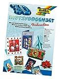 folia 1409 - 3D Motivbogen Set Weihnachten, DIN A4, 10 Blatt, mit Klebepads und Schere