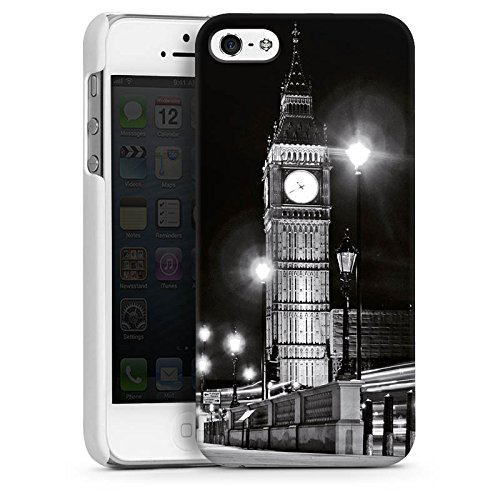 Apple iPhone 5s Housse étui coque protection Big Ben Londres Angleterre CasDur blanc