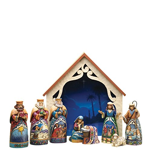 In A Manger (Mini Nativity 9 Piece Set) (Mini-krippe-sets)