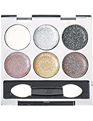 Claire's Girls and Womens 6 Piece Metallic Glitter Eyeshadow Palette