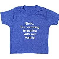 Hippowarehouse Shhh… I'm Watching Wrestling With My Auntie Baby Unisex t-Shirt Short Sleeve