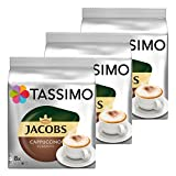 Tassimo Jacobs Cappuccino, Rainforest Alliance Zertifiziert, 3er Pack, 3 x 16 T-Discs (8 Portionen)