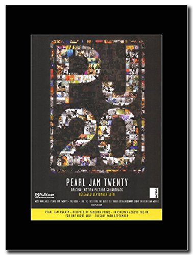 Pearl Jam - Twenty Magazine Promo on a Black (Pearl Jam Memorabilia)
