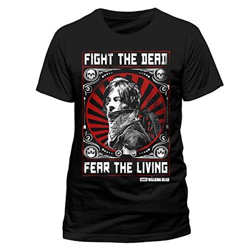 CID Herren T-Shirt Walking Dead-Fear the Dead, Mehrfarbig, S Schwarz (Schwarz)
